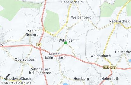 Stadtplan Willingen (Westerwald)