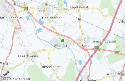 Stadtplan Willstätt