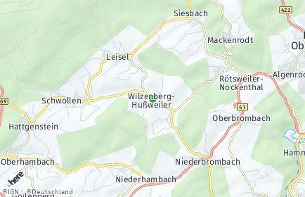 Stadtplan Wilzenberg-Hußweiler
