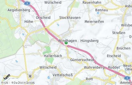 Stadtplan Windhagen OT Hohn bei Linz am Rhein