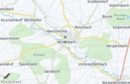 Stadtplan Windsbach