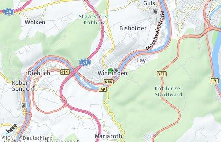 Stadtplan Winningen