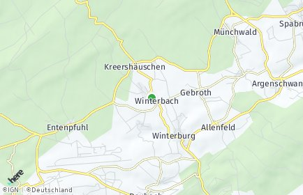 Stadtplan Winterbach (Soonwald)