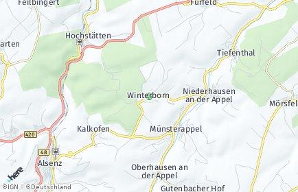 Stadtplan Winterborn