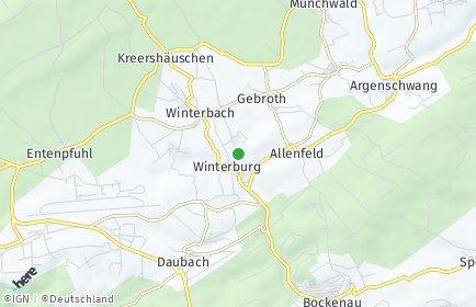 Stadtplan Winterburg
