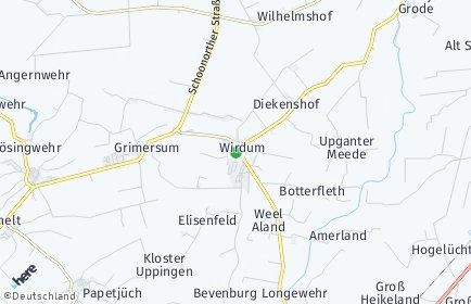 Stadtplan Wirdum