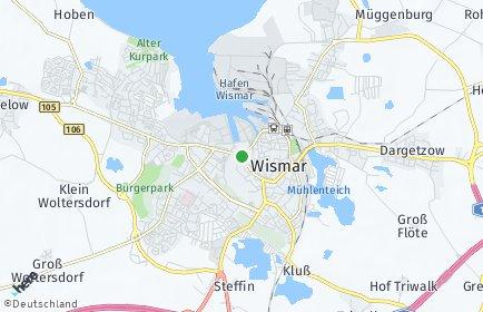 Stadtplan Wismar