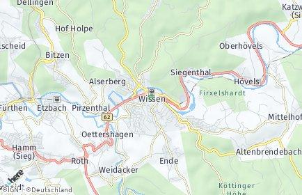 Stadtplan Wissen