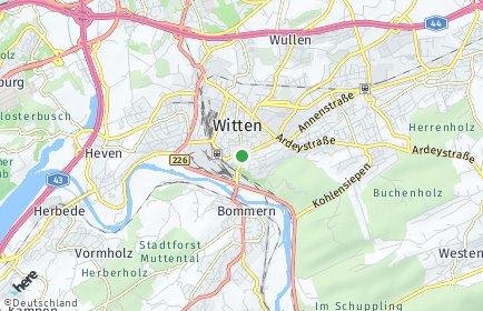 Stadtplan Witten