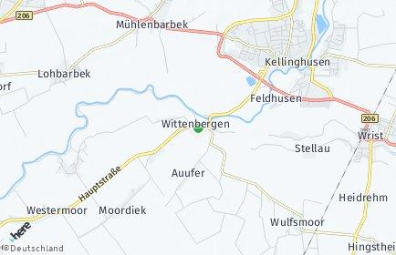 Stadtplan Wittenbergen