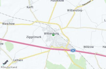Stadtplan Wittenburg