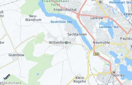 Stadtplan Wittenförden