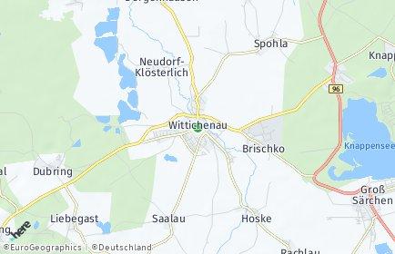 Stadtplan Wittichenau OT Rachlau