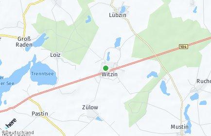 Stadtplan Witzin