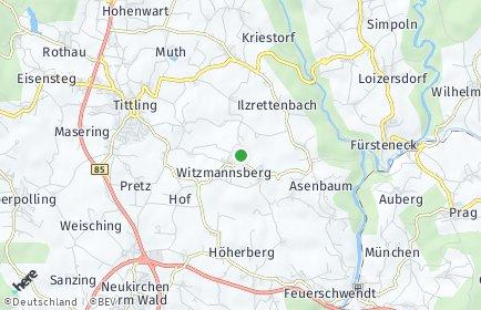 Stadtplan Witzmannsberg bei Tittling