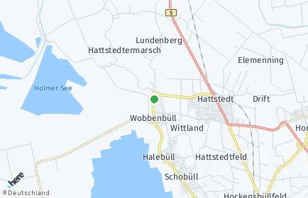 Stadtplan Wobbenbüll