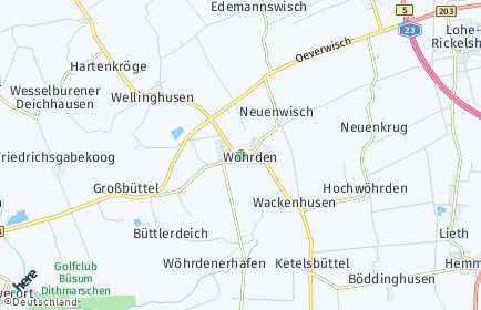 Stadtplan Wöhrden