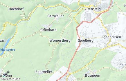 Stadtplan Wörnersberg