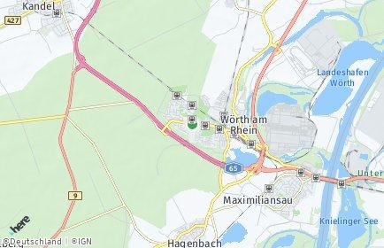 Stadtplan Wörth am Rhein