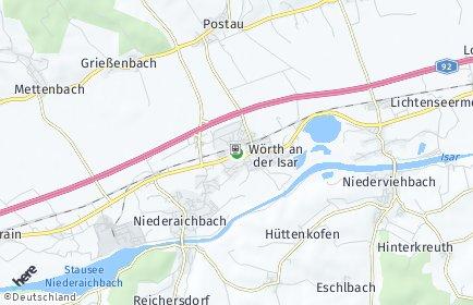 Stadtplan Wörth an der Isar