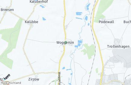 Stadtplan Woggersin