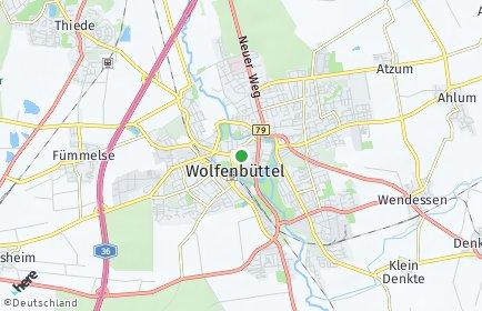Stadtplan Wolfenbüttel OT Auguststadt