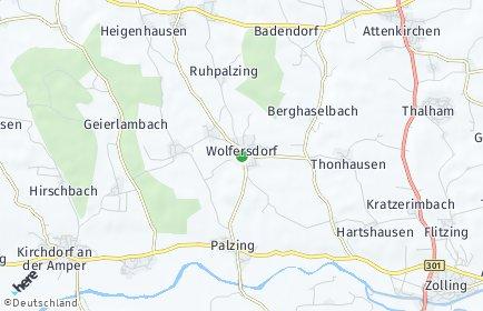 Stadtplan Wolfersdorf
