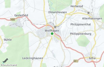 Stadtplan Wolfhagen