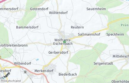 Stadtplan Wolframs-Eschenbach
