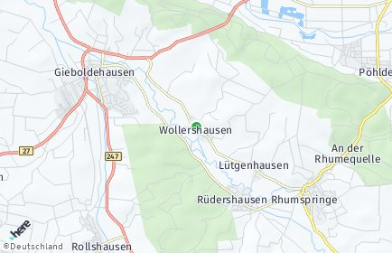 Stadtplan Wollershausen