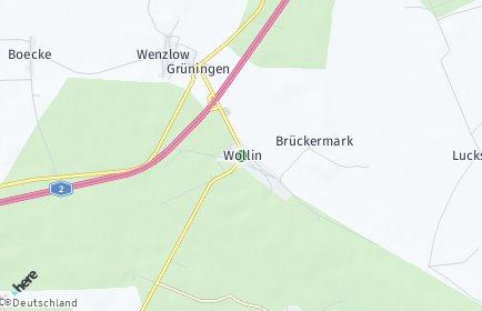 Stadtplan Wollin (Fläming)