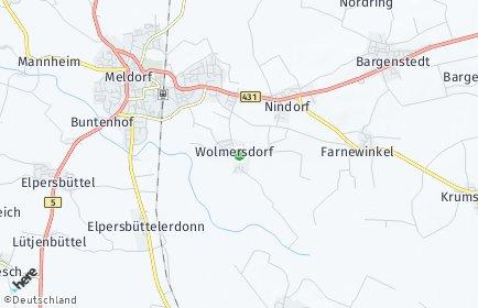 Stadtplan Wolmersdorf