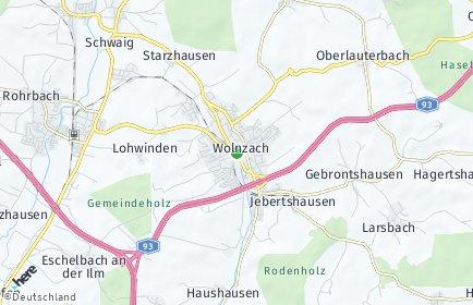 Stadtplan Wolnzach OT Niederlauterbach