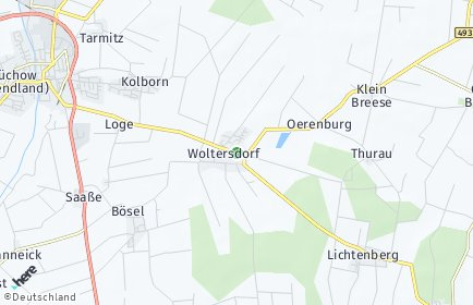 Stadtplan Woltersdorf (Wendland)