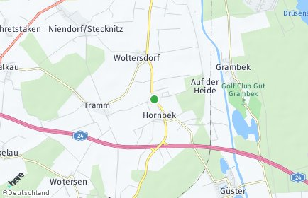 Stadtplan Woltersdorf (Lauenburg)