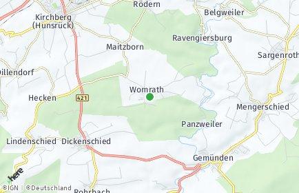 Stadtplan Womrath