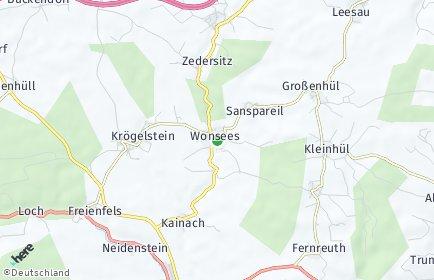 Stadtplan Wonsees