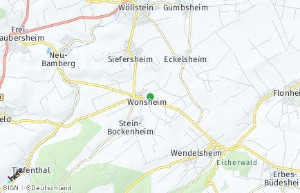 Stadtplan Wonsheim