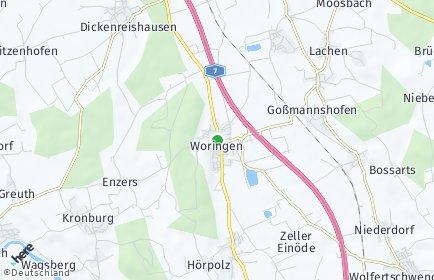 Stadtplan Woringen