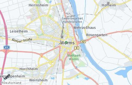 Stadtplan Worms OT Ibersheim