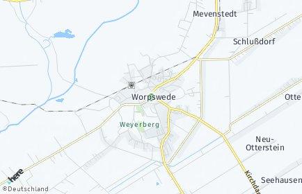 Stadtplan Worpswede
