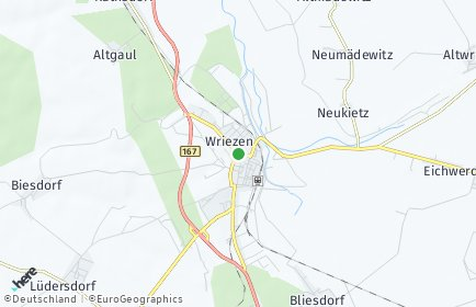 Stadtplan Wriezen