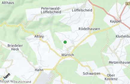 Stadtplan Würrich
