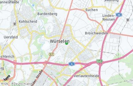 Stadtplan Würselen