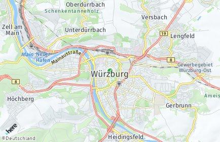 würzburg landkarte deutschland PLZ Würzburg   Bayern Postleitzahlen 97070 97084 Würzburg