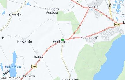Stadtplan Wulkenzin