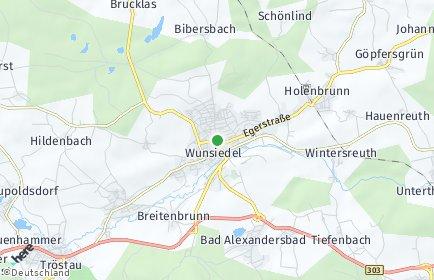Stadtplan Wunsiedel OT Holenbrunn