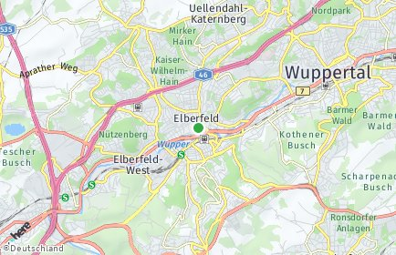 Stadtplan Wuppertal OT Sudberg
