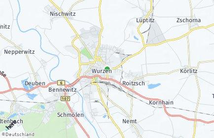 Stadtplan Wurzen