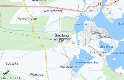 Stadtplan Wusterwitz